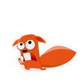 Funny cartoon squirrel is praying illustration of a Stock Photography