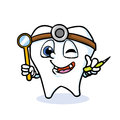 Funny cartoon tooth Royalty Free Stock Photo