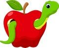 Funny cartoon worm Royalty Free Stock Photo
