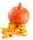 Funny carved pumpkin Royalty Free Stock Images