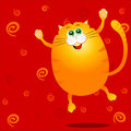 Funny cat jumping Royalty Free Stock Photo
