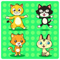 Funny cats cat characters in different styles vector eps file Stock Photo