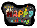 Funny characters Happy Birthday Royalty Free Stock Photo
