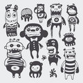Funny characters set Royalty Free Stock Image