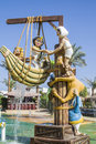Funny characters in a water park the picture is shot sharm el sheik egypt april Stock Image