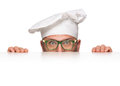 Funny chef peeking Royalty Free Stock Photo