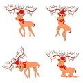 Funny christmas deers on a white background vector art Stock Photography