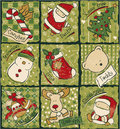 Funny christmas patchwork elements vector seamless pattern in custom colors Royalty Free Stock Photo