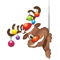 Funny christmas reindeer with decoration Royalty Free Stock Photography