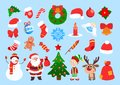 stock image of  Funny Christmas stickers.
