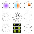 Funny clocks. Stock Image