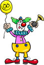 Funny clown cartoon illustration Stock Photography
