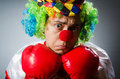 Funny clown in comical concept Royalty Free Stock Photo