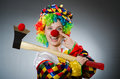 The Funny Clown In Comical Concept