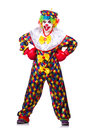 Funny clown isolated on the white Royalty Free Stock Photos