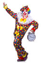 Funny clown isolated on the white Royalty Free Stock Image