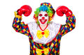 Funny clown isolated on the white Stock Photos
