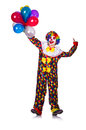 Funny clown isolated on the white Royalty Free Stock Photo