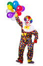 Funny clown isolated on the white Stock Photo