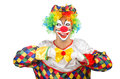 Funny clown isolated on white Royalty Free Stock Photo