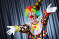 Funny clown in studio Royalty Free Stock Images