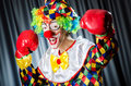 Funny clown in the studio Royalty Free Stock Photo