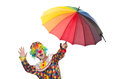 Funny clown on  white Royalty Free Stock Photo