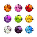 Funny colorful bugs set.