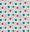 Funny colorful seamless pattern with flowers Royalty Free Stock Photography