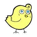 Funny comic cartoon bird retro book style Stock Images