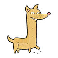 Funny comic cartoon dog retro book style Stock Photo