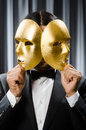 Funny concept with theatrical mask Royalty Free Stock Photo