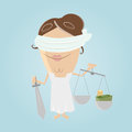 Funny corrupted illustration of a justice Stock Photos