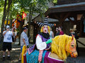 Funny Court Jester Maryland Renaissance Festival Royalty Free Stock Photo