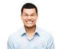 Funny crazy face man mixed race latino Royalty Free Stock Image