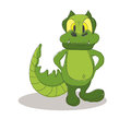 Funny crocodile cartoon posing Royalty Free Stock Photo