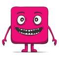 Funny cube dude. Square character. Vector Royalty Free Stock Photo