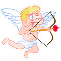 Funny cupid isolated a cute cartoon style of on white background Royalty Free Stock Photos