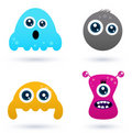 Funny curious monster set Stock Images