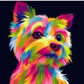 Funny and cute dog vector pop art full colours Royalty Free Stock Photo