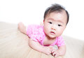 Funny cute girl baby face close up Royalty Free Stock Photo