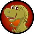 Funny dinosaur head cartoon Royalty Free Stock Photos