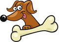 Funny dog with bone icon Royalty Free Stock Photography