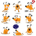 Funny dogs set Stock Photos