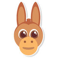 Funny donkey face isolated icon Royalty Free Stock Photo