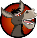 Funny donkey head cartoon Royalty Free Stock Image