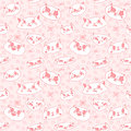 Funny doodle cartoon cats seamless vector pattern