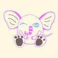 Funny doodle elephant Royalty Free Stock Photo