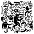 Funny doodles Stock Photos