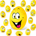 Funny easter egg cartoon Stock Images